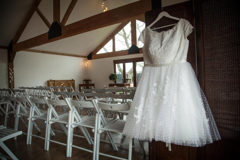 Jenn's wedding dress, which was bought for £1,200 and sold for £900. Source:Jemima DaisyWeddings