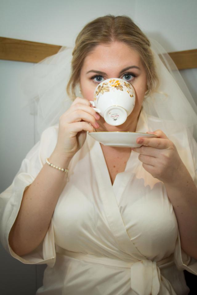 Jenn and Matt also sold the china tea set they bought for their wedding, which had an afternoon tea theme.Source:Jemima DaisyWeddings